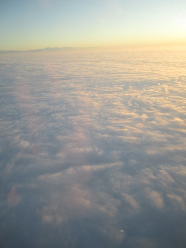 Stratus cloud layer from above